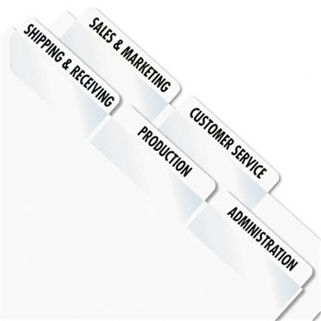 Redi-Tag 39170 Printable Laser Index Tabs  2w x 7/8h  White  300 Pack