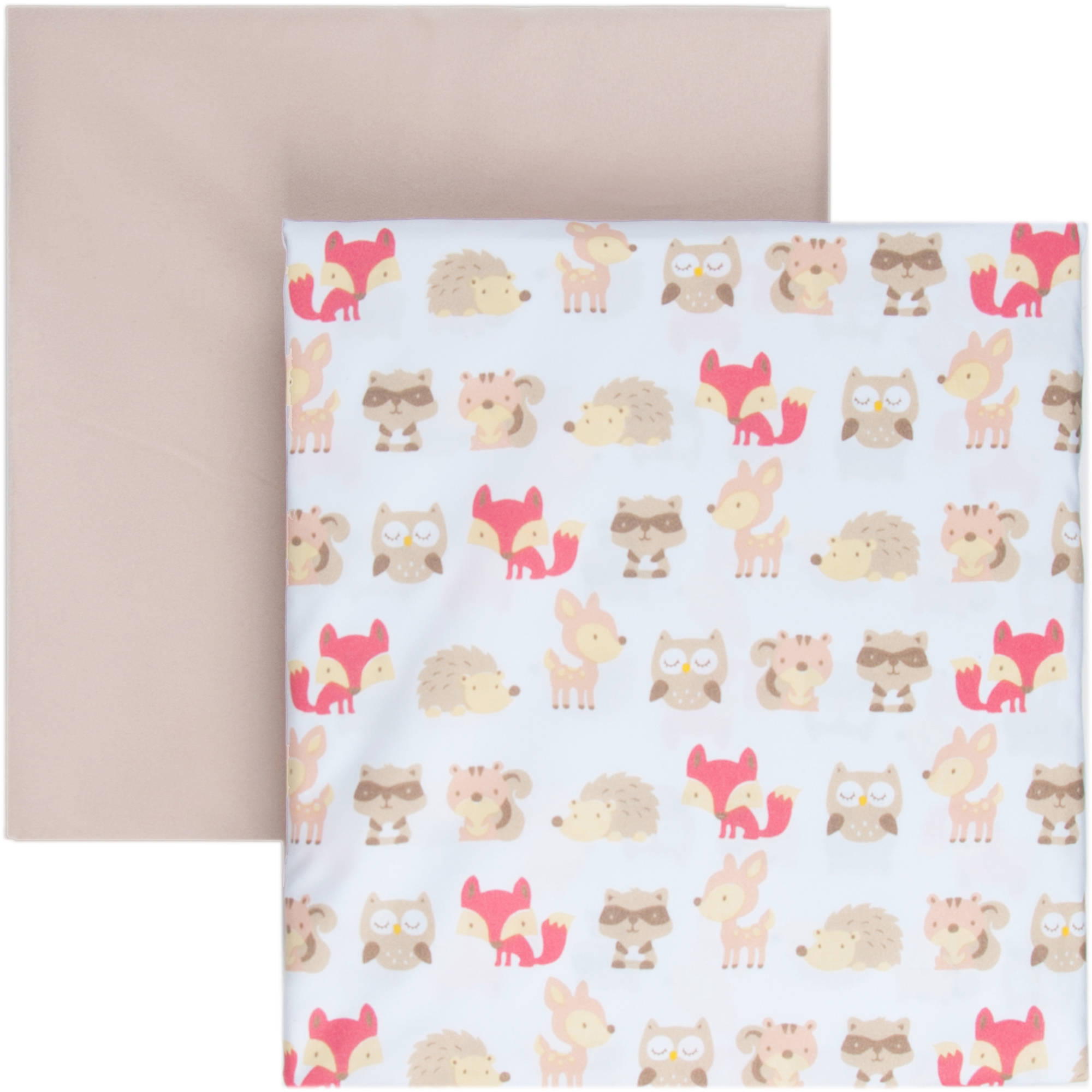 Tadpoles 2-Piece Microfiber Crib Fitted Sheets, Woodland Creatures