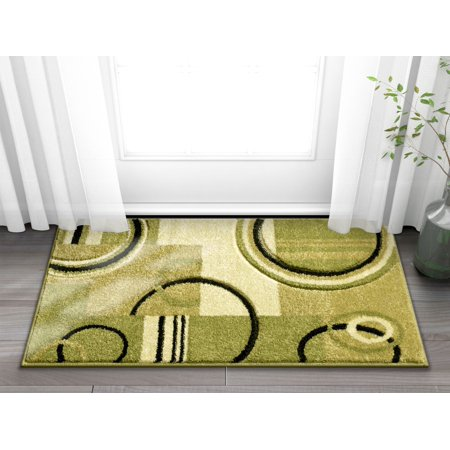 Doormat Ruby Kitchen Bathroom Soft Durable Accent Rug Small Carpet Scatter Entry Mat Easy to Clean Modern Woven Hearth Mat Green 1'8