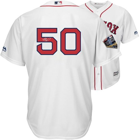- Mookie Betts Boston Red Sox 2018 MLB World Series Champions Autographed Majestic White Replica World Series Jersey - Fanatics Authentic Certified