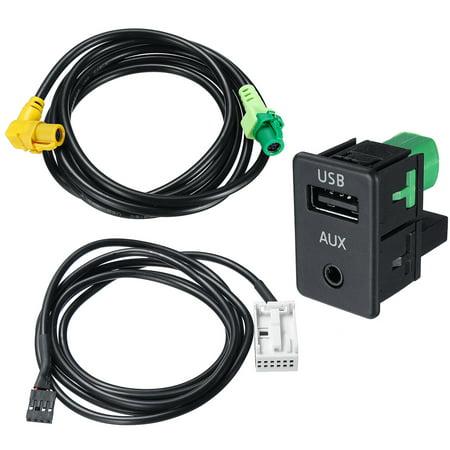 Car USB Aux Audio Input Adapter Socket Harness Cable Kit For VW Passat CC Touran (Kit De Cables Car Audio)