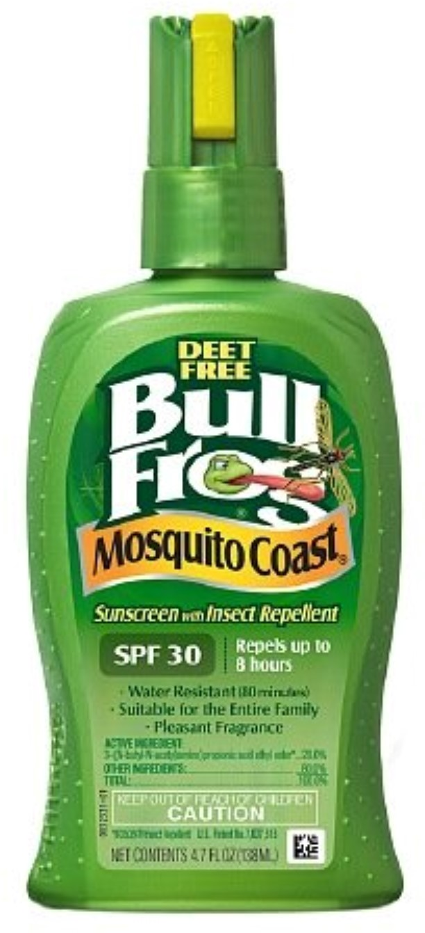 BullFrog Mosquito Coast, Sunscreen with Insect Repellent, SPF 30 4.7 oz (Pack of 4) by