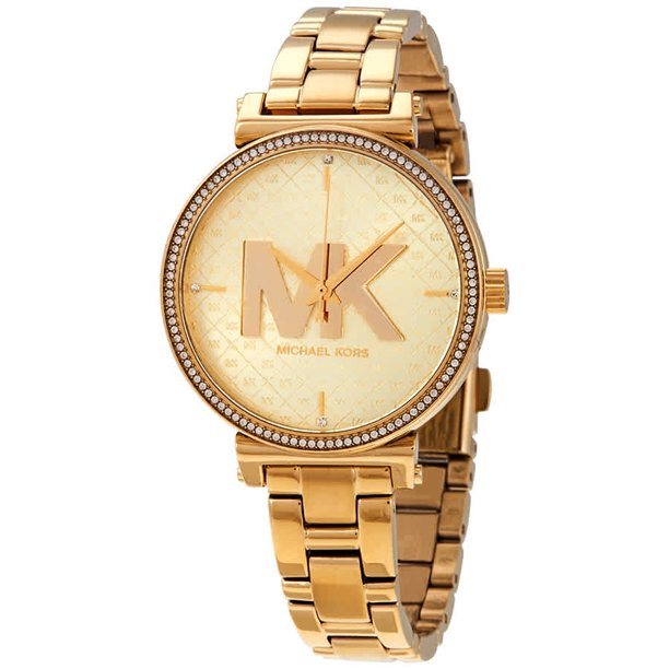 Michael Kors Women's Sofie MK4334 Gold Stainless-Steel Quartz Fashion Watch