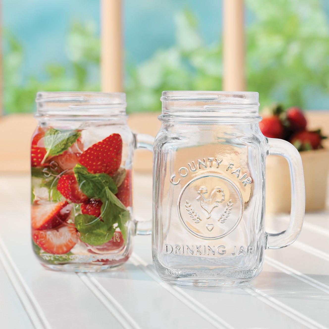 Libbey Handled Drinking Jar 8-...