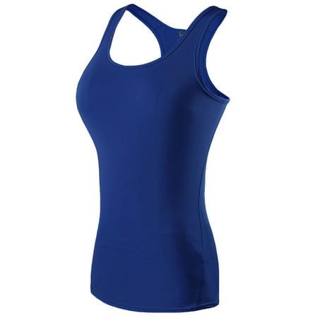 Plus Size Women Yoga Tops Activewear Tank Top Racerback Vest Tank Tee Sleeveless Shirts Compression Sports Gym Jogging Running Long Workout