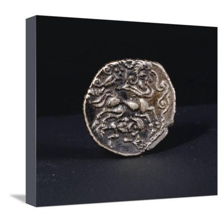 Celtic coin, France, first half of the 1st century BC Stretched Canvas Print Wall Art By Werner Forman