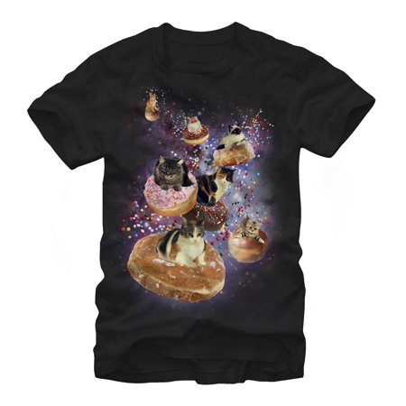 Lost Gods Space Cat Doughnut Race Mens Graphic T (Lost T-shirt Shorts)