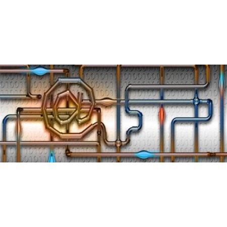Pipe information Canvas Art - Panoramic Images (15 x