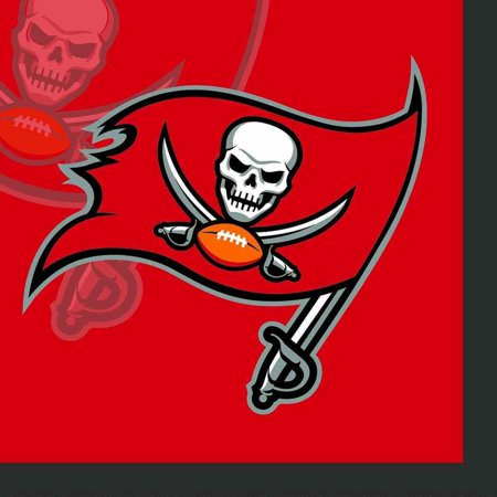 Football Bouquet (Tampa Bay Buccaneers NFL Football Sports Banquet Party Paper Beverage Napkins)