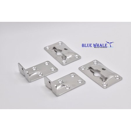 Stainless Steel Marine Hardware (Blue Whale Stainless Steel Removable Table Bracket set of 4 pieces, Made from Marine Grade 316 Stainless Steel Set By Blue Whale Marine)