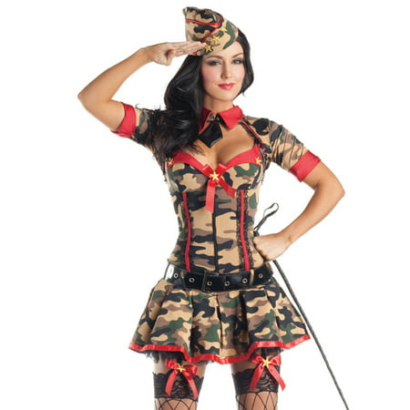 Army Brat Body Shaper Sexy Fancy Dress Hens Party Womens Halloween Costume for $<!---->