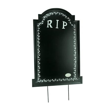 Black Metal RIP Halloween Tombstone Chalkboard Sign Yard - Plywood Halloween Yard Art