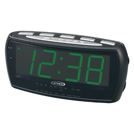 jensen jenjcr208b am fm alarm clock radio. Black Bedroom Furniture Sets. Home Design Ideas