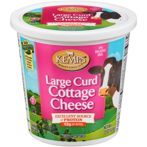 Kemps Large Curd Cottage Cheese, 24 oz