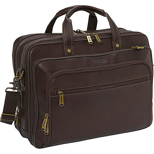 eBags Laptop Collection Wall Street Colombian Leather Deluxe Laptop Brief