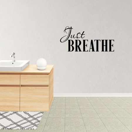 Just Breathe Vinyl Wall Decal Quote Lettering Words Graphics Home Decor Sticker XJ543