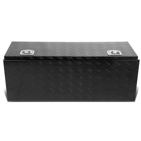 """42""""x18""""x16"""" Aluminum Pickup Truck Bed Trailer Key Lock Storage Tool Box (Black)"""
