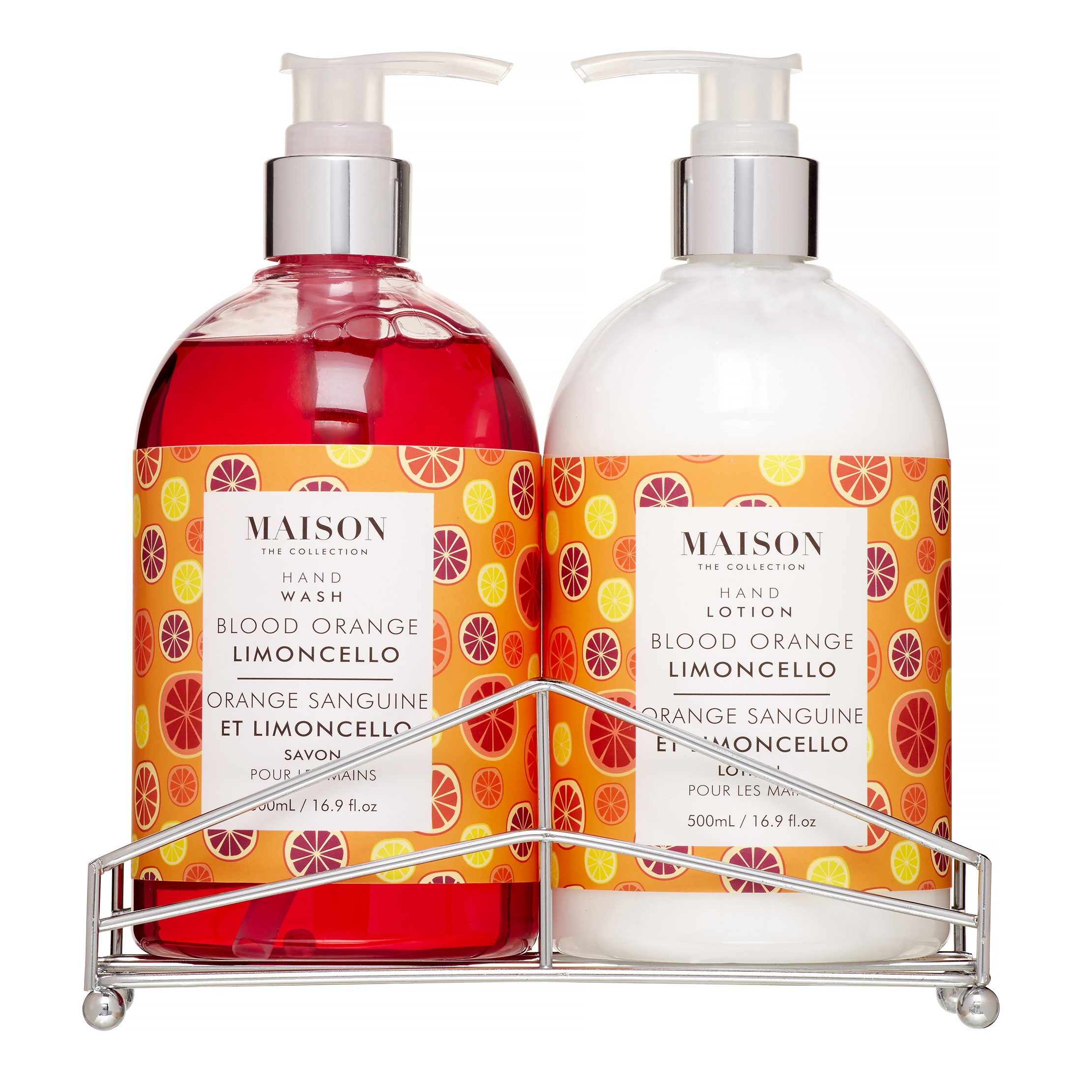Maison Hand Wash Amp Lotion Caddy Set Blood Orange