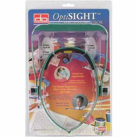Donegan Optical Optisight Magnifying Visor  Green W Three Lens Plates
