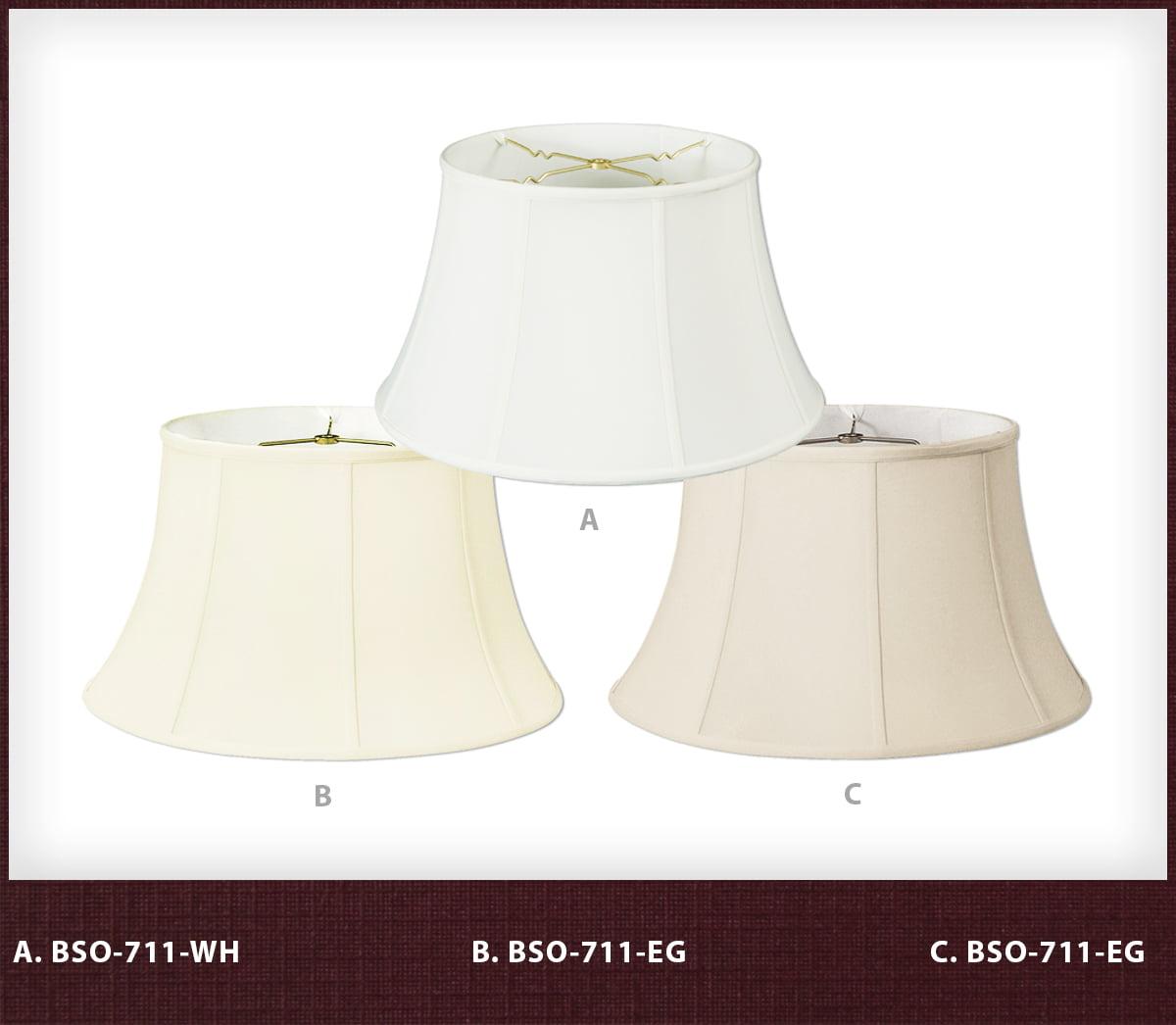 Royal Designs Shallow Drum Bell Billiotte Wall Lamp Shade 8 x 12.5 x 7.6 Beige