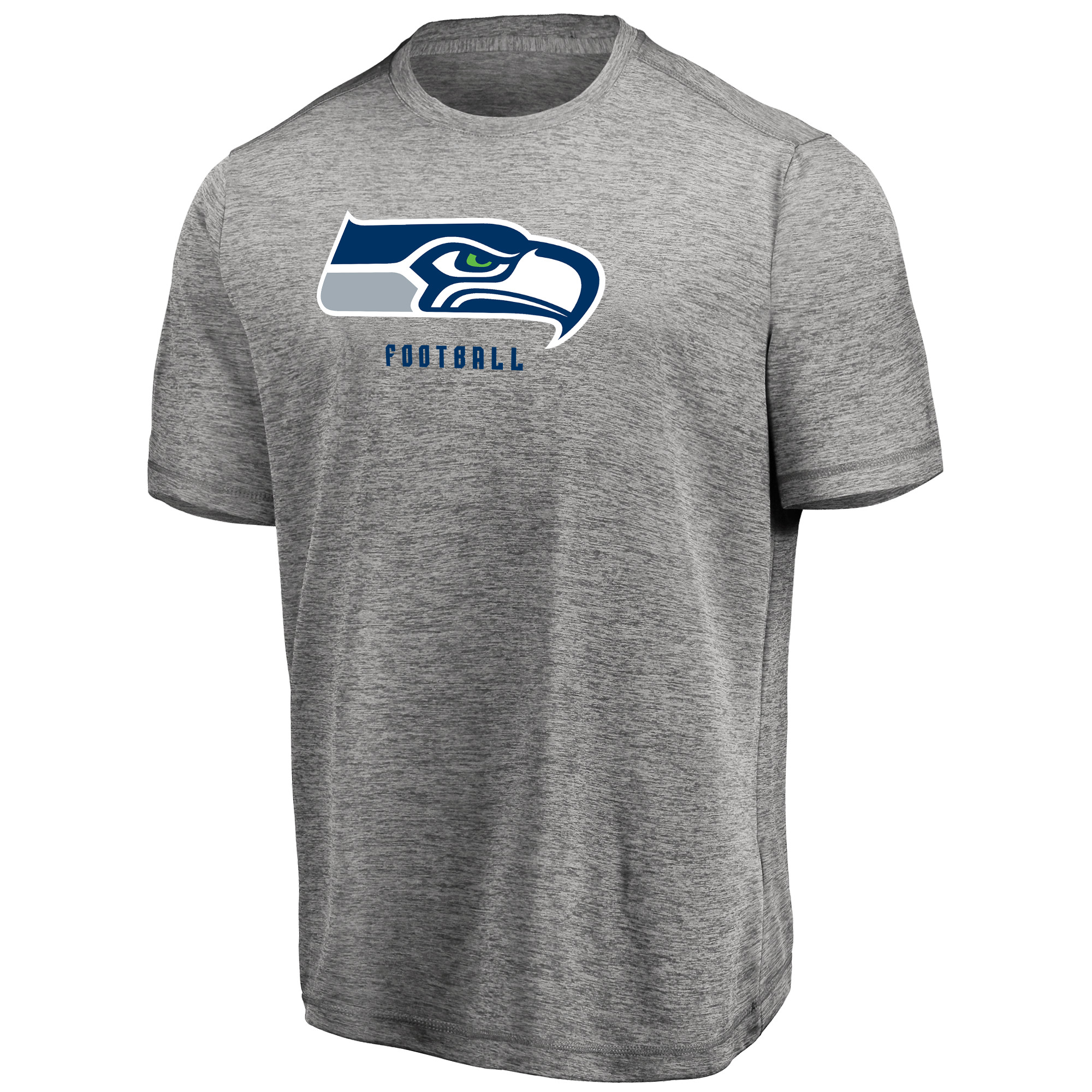 Men's Majestic Heathered Gray Seattle Seahawks Proven Winner Synthetic TX3 Cool Fabric T-Shirt