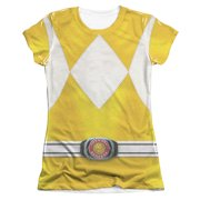 Power Rangers  Yellow Ranger Girls Jr Sublimation White