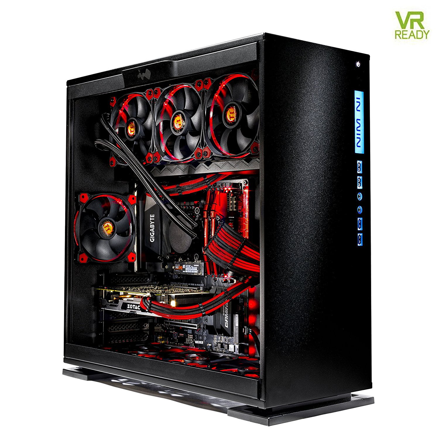 SkyTech Legacy - Gaming Computer PC Desktop - i7-7700K 4 2Ghz, 500GB  Samsung 960 Evo NVMe SSD, GTX 1080 Ti 11GB, 360mm Liquid Cool, 2TB HDD,  16GB