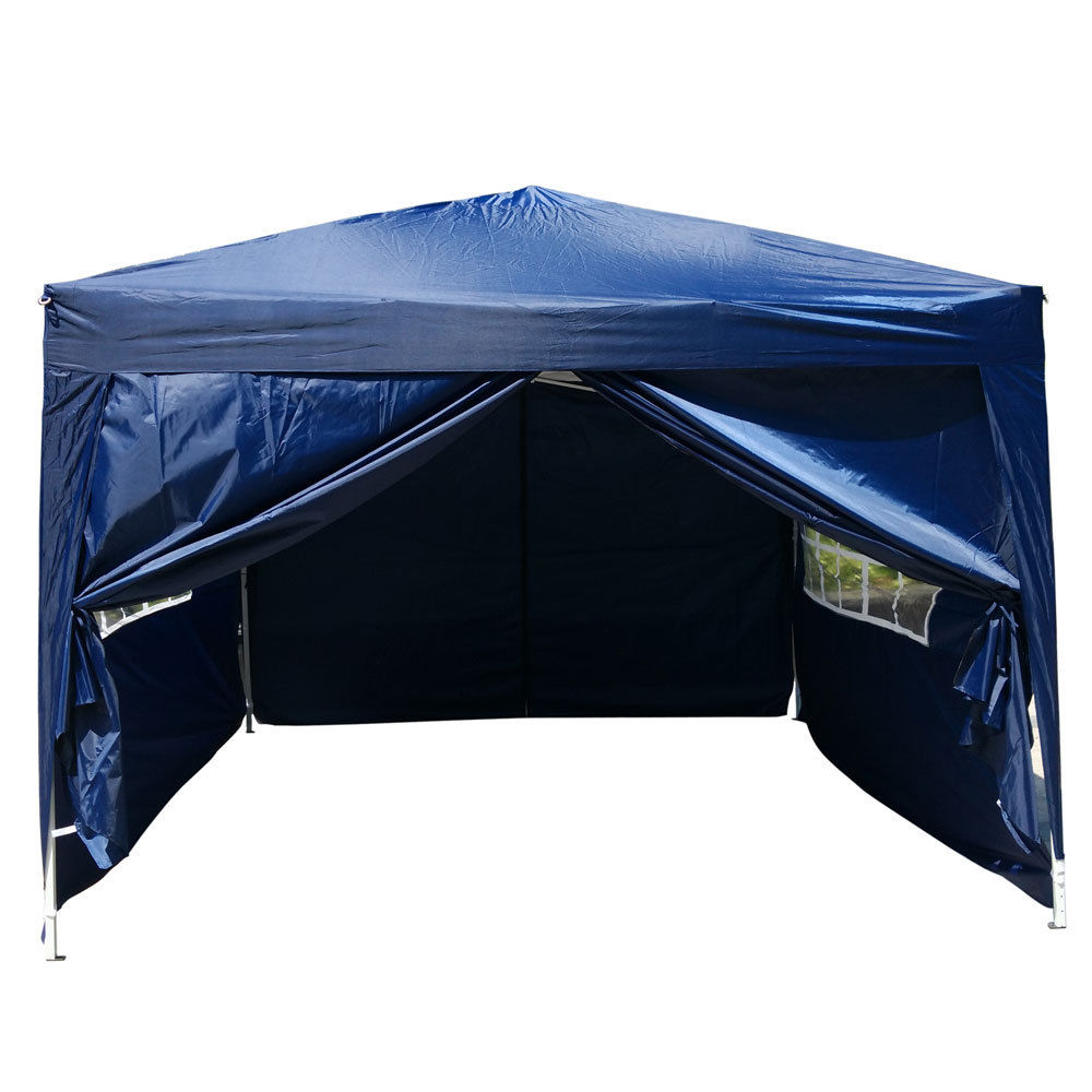 Zimtown 10' x 10' Folding Tent Gazebo Wedding Party Canopy pop up Instant Shelter W  Two Doors & Two Windows and Carry... by