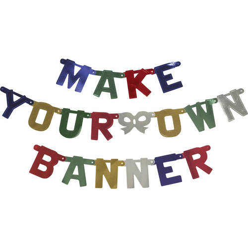 Way to Celebrate Make Your Own Banner