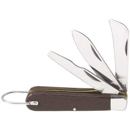 Klein Tools Pocket Knife, (3) Blade, -