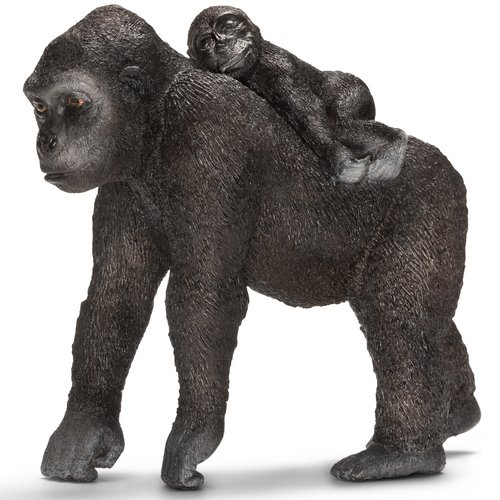 Schleich Gorilla Female with Young Animal Figurine