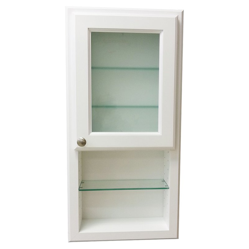WG Wood Nash 15.5W x 37.5H in. Surface Mount Medicine Cabinet with Frosted Glass Door