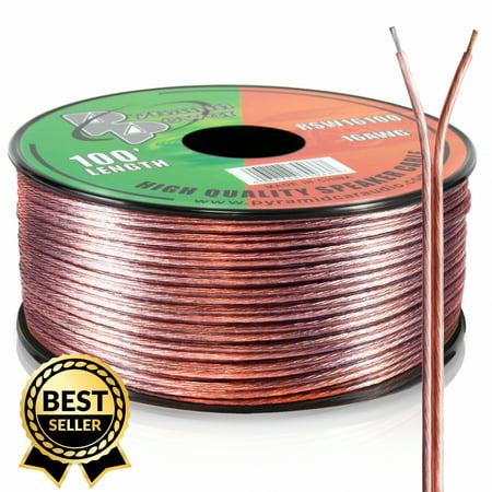 PYRAMID RSW16100 - 16 Gauge 100 ft. Spool of High Quality Speaker Zip