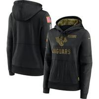 Jacksonville Jaguars Nike Women's 2020 Salute to Service Performance Pullover Hoodie - Black