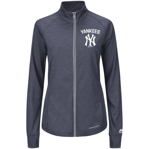 New York Yankees Majestic Women's Count the Wins Therma Base Full-Zip Jacket Navy by MAJESTIC LSG
