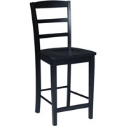 """International Concepts Madrid 24"""" Counter-Height Stool, Black"""