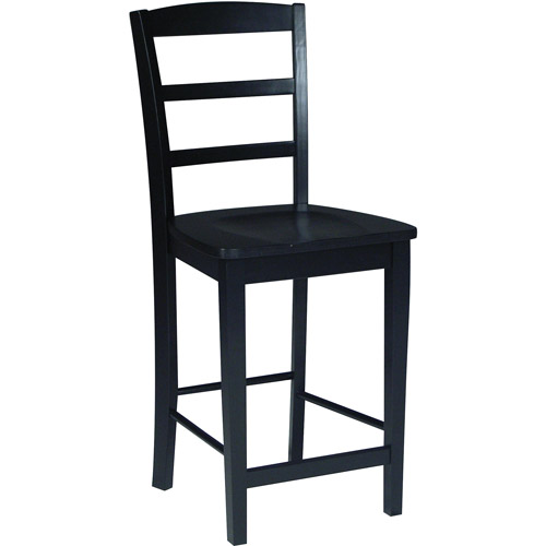 "International Concepts Madrid 24"" Counter-Height Stool, Black"