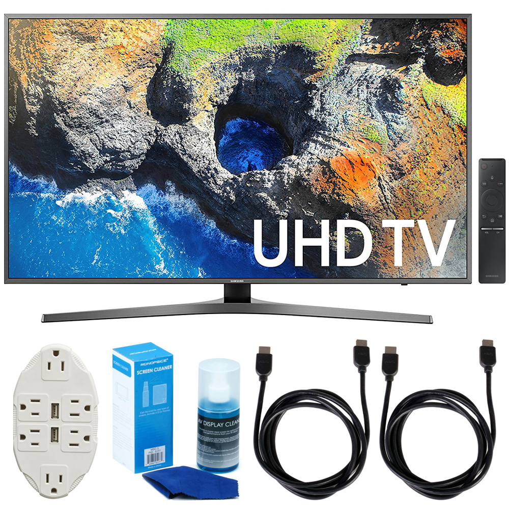 "Samsung UN55MU7000 54.6"" 4K Ultra HD Smart LED TV 2017 Model Accessories Bundle"