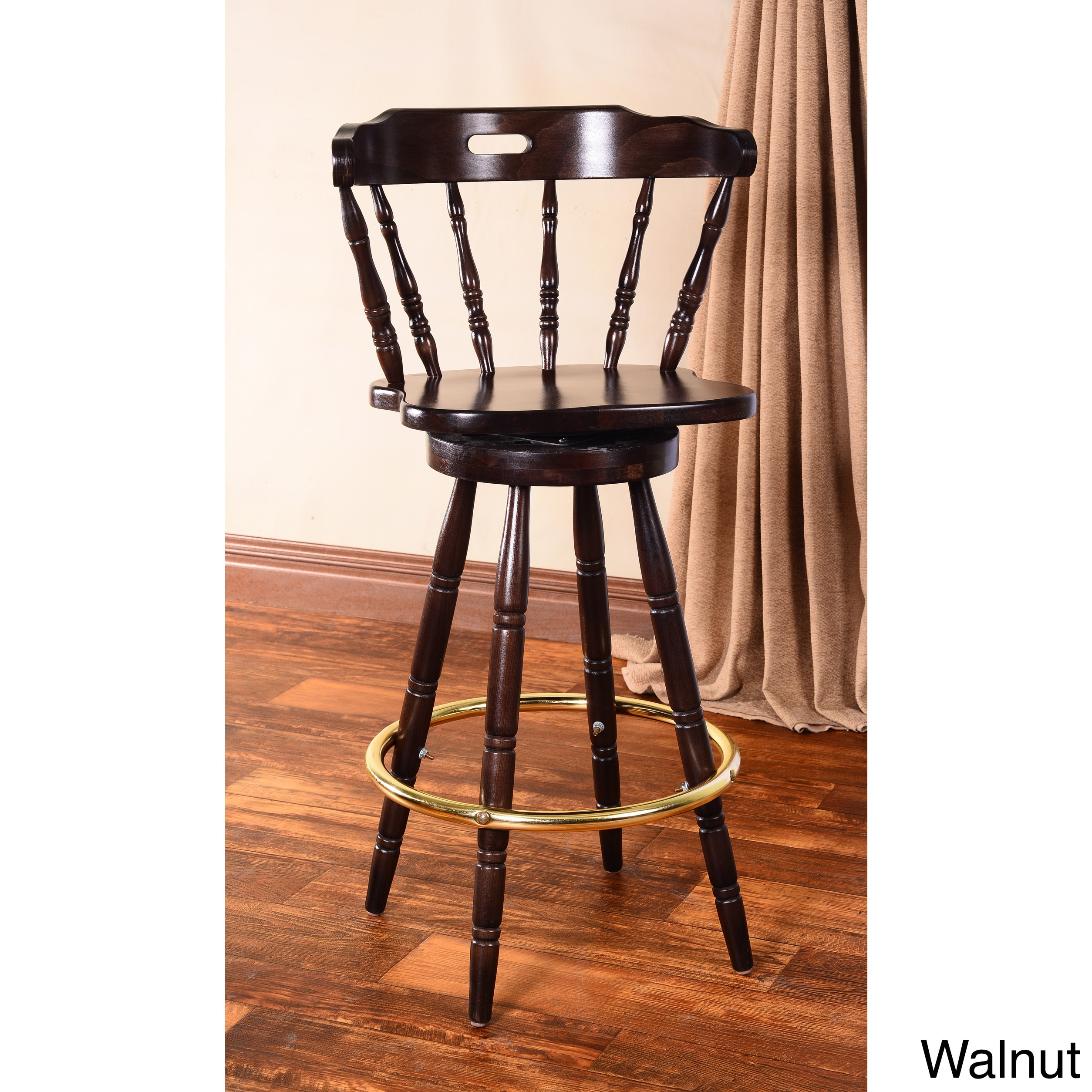 Beechwood Mountain Colonial Swivel Bar Stool by Overstock