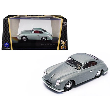 1951 Porsche 356 Coupe Silver 1/43 Diecast Model Car by Road