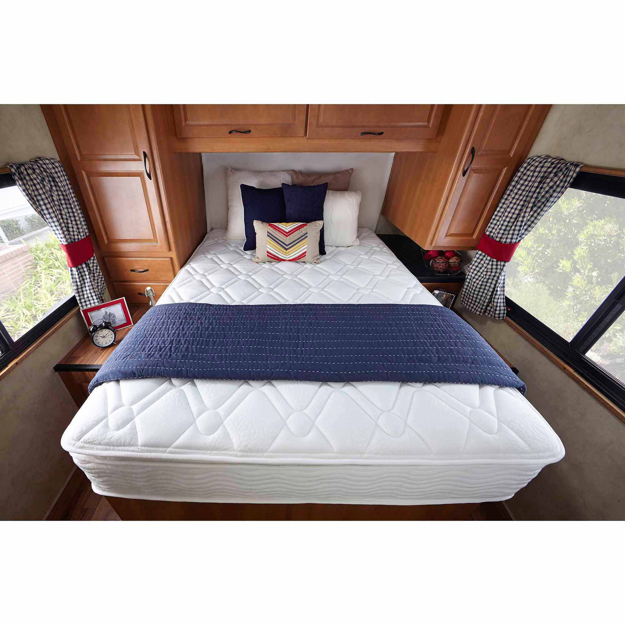 sleep revolution 8 memory foam rv mattress short queen walmart com