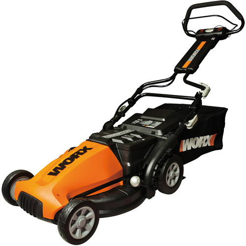 "WORX 19"" Cordless Electric-Powered Push Lawn Mower with IntelliCut"