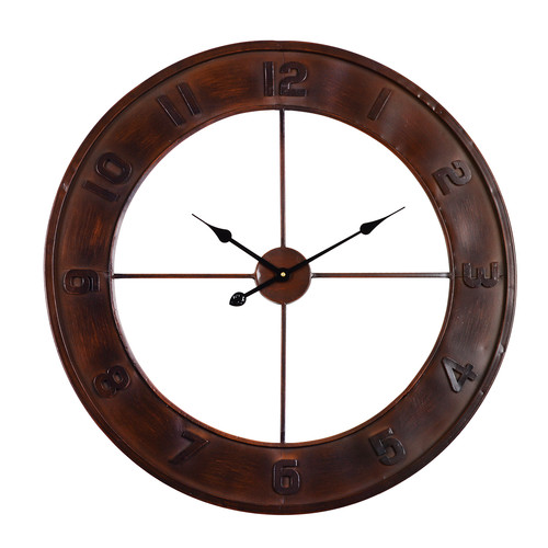 utopia alley rustic living oversized lancaster wall clock