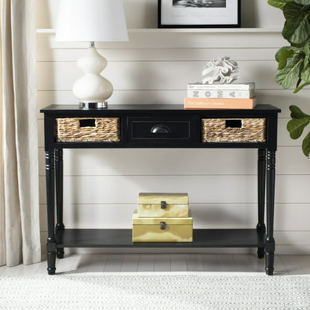 Safavieh Christa Contemporary Console Table Drawer and Two - Cherry Contemporary Console Table