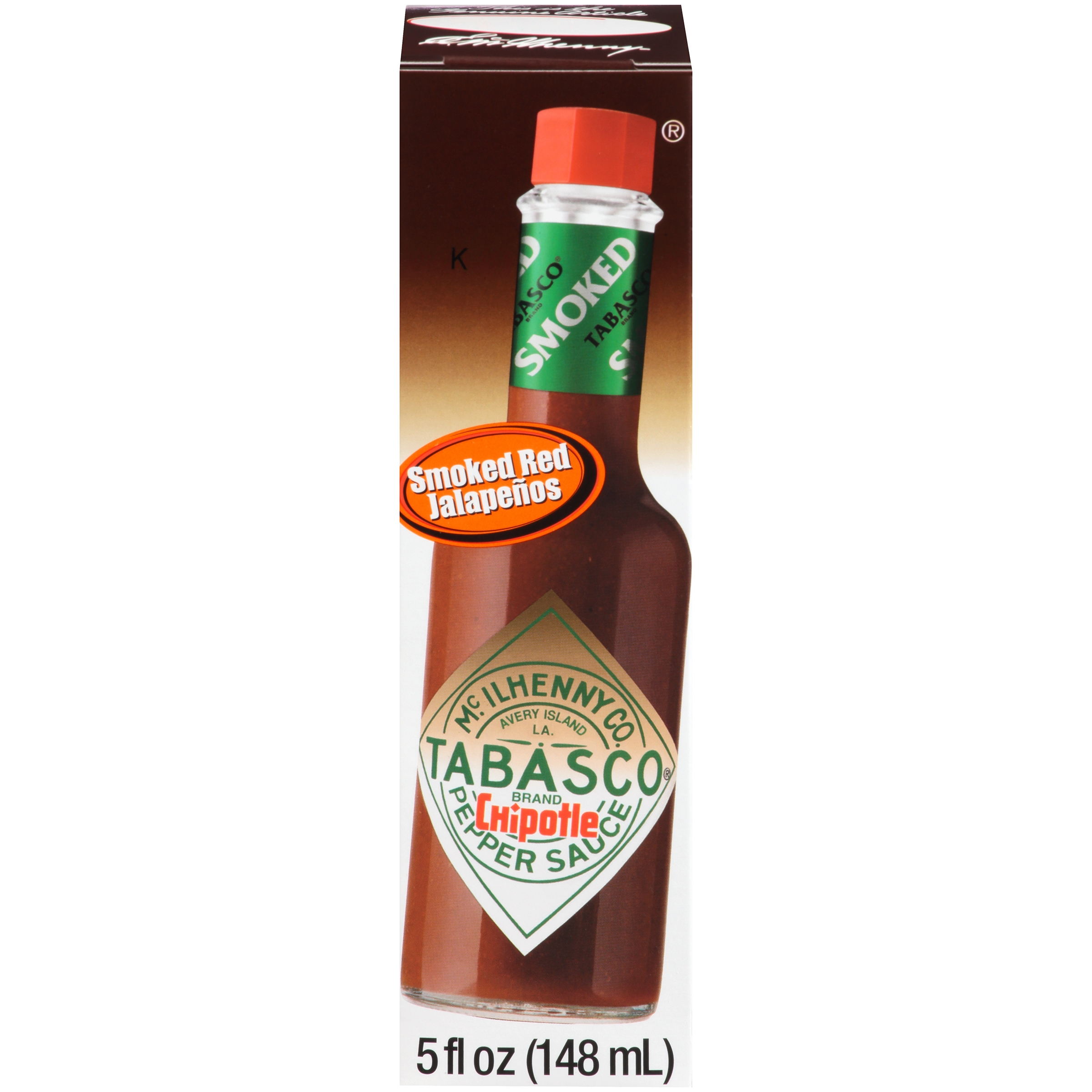 Tabasco® Smoked Red Jalapeños Chipotle Pepper Sauce 5 fl. oz. Box