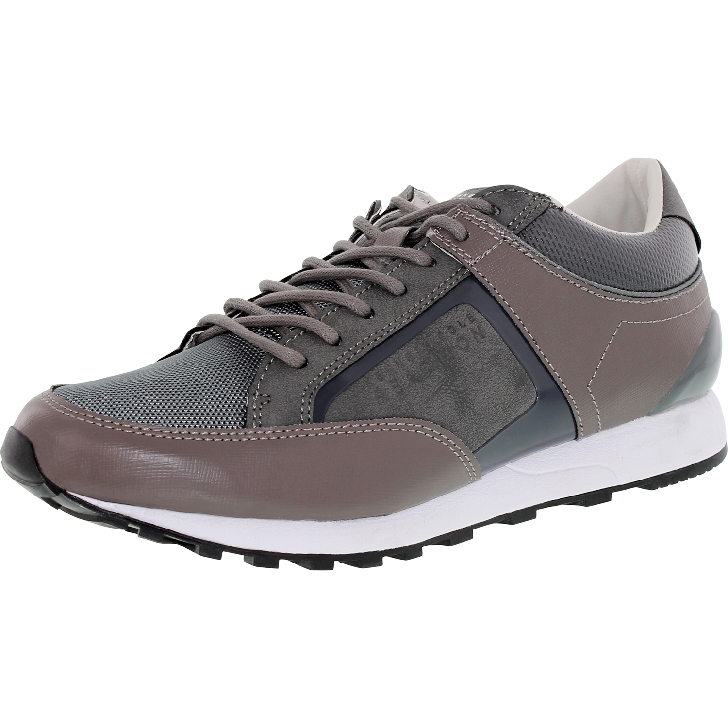 Kenneth Cole Men's That's A Rap Taupe Ankle-High Leather Fashion Sneaker - 7.5M