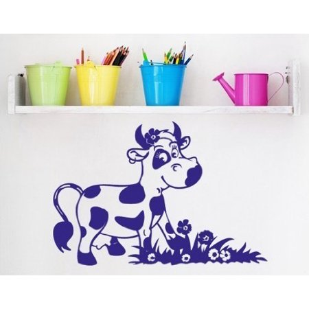 Happy Cow Wall Decal nursery wall decal sticker mural vinyl art home d