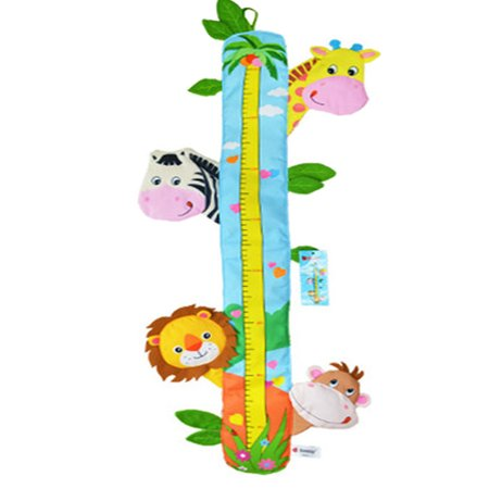 Child Growth Chart Height Measurement Ruler and Wall Décor for Nursery, Metric System, Zoo Animals