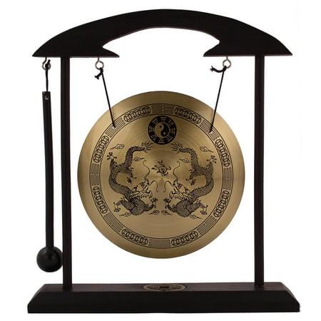 Zen Art Brass Feng Shui Desktop Gong by Asian