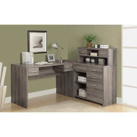 Laude Run Ord L Shaped Computer Desk With Hutch